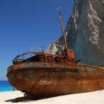 Wrak statku na Zakynthos