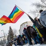Protest pod Sejmem przeciwko odrzuceniu ustaw o związkach partnerskich